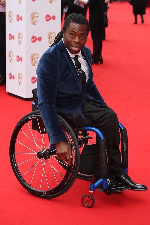 Ade Adepitan<br />  arriving at the Bafta Tv awards 2017. Royal Festival Hall,London  <br /> ©Ash Knotek