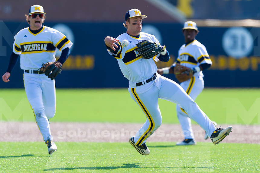The University of Michigan baseball team; 5-0,10-4, doubleheader victory over UIC at the Wilpon Baseball Complex in Ann Arbor, Mich. on March 26, 2016.