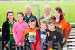 Catherine O'Connor, Niamh Lynch, Ger Lynch, Jack Slattery, Lee Wharton, Mike Brosnan, Sam Slattery and Michelle Lynch, all from Ballymac, enjoying the Kerry v Clare football championship semi-final, held at Fitzgerald Stadium, Killarney, on Sunday last.