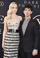 """HOLLYWOOD, CA - JUNE 04: Sophie Turner (L) and Joe Jonas arrive at the Premiere Of 20th Century Fox's """"Dark Phoenix"""" at TCL Chinese Theatre on June 04, 2019 in Hollywood, California.<br /> CAP/ROT/TM<br /> ©TM/ROT/Capital Pictures"""