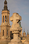 Basilica of Our Lady of Pilar Church; Zaragoza, Saragossa; Aragon; Spain