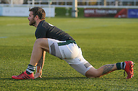 Aaron Penberthy of Ealing Trailfinders warms up ahead of the Greene King IPA Championship match between Ealing Trailfinders and London Welsh RFC at Castle Bar , West Ealing , England  on 26 November 2016. Photo by David Horn / PRiME Media Images
