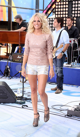 August 15, 2012 Carrie Underwood performs on NBC's Today Show Toyota Concert Series at Rockefeller Center in New York City. © RW/MediaPunch Inc.