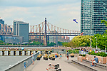 Hunters Point South of Long Island City with a view of the East River and the Queensborough Bridge in the background