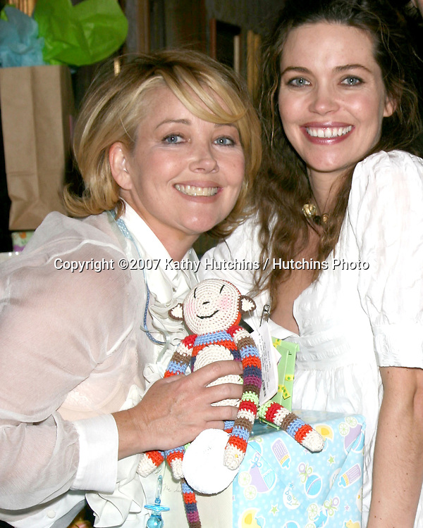 Melody Thomas Scott & Amelia Heinle .Amelia Heinle Luckinbill Baby Shower.Home of Melody Thomas Scott.Los Angeles,   CA.October 8, 2007.©2007 Kathy Hutchins / Hutchins Photo...               .