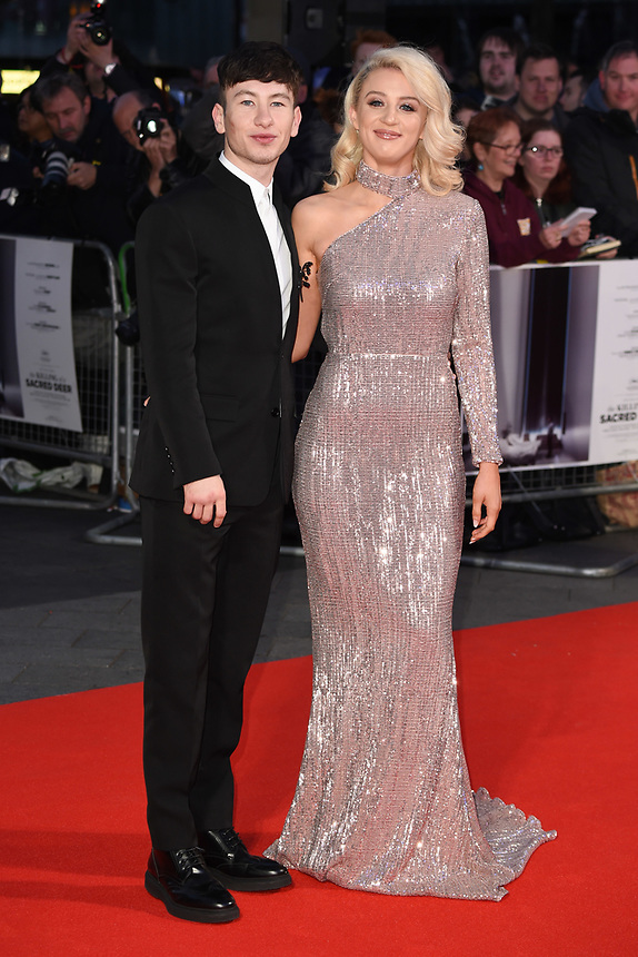 "Barry Keoghan and girlfriend, Shona Guerin<br /> arriving for the London Film Festival 2017 screening of ""Killing of a Sacred Deer"" at Odeon Leicester Square, London<br /> <br /> <br /> ©Ash Knotek  D3332  12/10/2017"