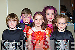 Enjoying the Monster madness Halloween party in Ballyfinnane Hall on Friday l-r: Conor Whelan, Ronan Hegarty, Aoife Cronin, Una Kelleher and Cian Cronin    Copyright Kerry's Eye 2008