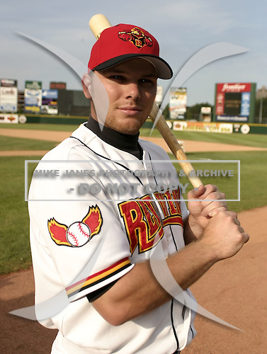 June 14, 2004:  Jason Kubel (18) of the Rochester Red Wings, Triple-A International League affiliate of the Minnesota Twins, during a game at Frontier Field in Rochester, NY.  Photo by:  Mike Janes/Four Seam Images