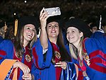 Graduates shoot selfies on the floor of Allstate Arena Sunday, June 11, 2017, during the DePaul University College of Science and Health and College of Liberal Arts and Social Sciences commencement ceremony. (DePaul University/Jamie Moncrief)