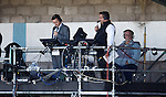 Sky TV gantry with Andy Walker and Ian Crocker