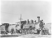 Leased D&amp;RGW C-18 #319 at Ridgway with Rocky Club excursion.<br /> RGS  Ridgway, CO  Taken by Richardson, Robert W. - 5/31/1947