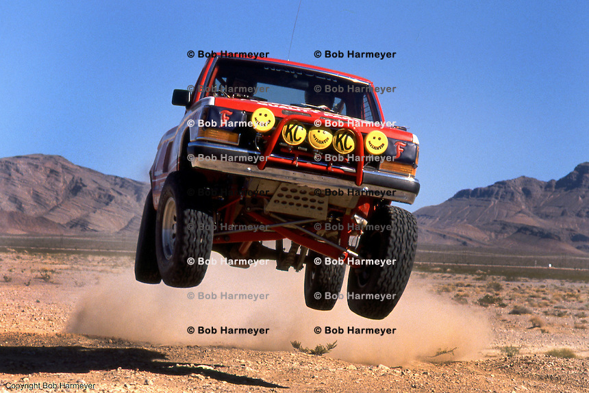 Manny Esquerra in a 1990 off-road photo session.