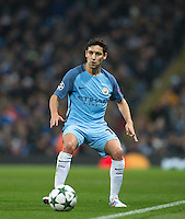 Jesus Navas of Manchester City during the UEFA Champions League GROUP match between Manchester City and Celtic at the Etihad Stadium, Manchester, England on 6 December 2016. Photo by Andy Rowland.