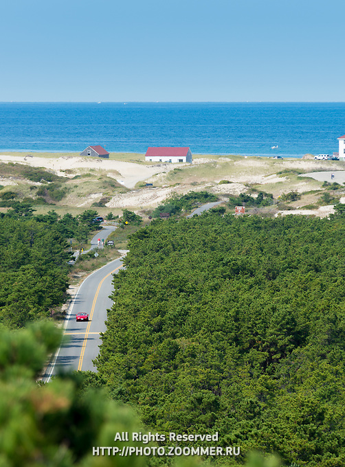 Provincetown Race Point scenic view from Province Lands visitor center