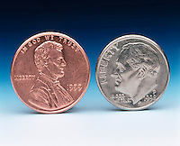 AMERICAN COINS: PENNY &amp; DIME<br />