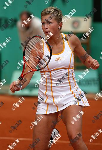 28-05-2007 TENNIS:ROLAND GARROS 2007:PARIJS.Michaella Krajicek tijdens haar wedstrijd tegen Severine Bremond..Foto: Maarten Straetemans