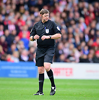 Referee Brett Huxtable<br /> <br /> Photographer Andrew Vaughan/CameraSport<br /> <br /> The EFL Sky Bet League One - Lincoln City v Sunderland - Saturday 5th October 2019 - Sincil Bank - Lincoln<br /> <br /> World Copyright © 2019 CameraSport. All rights reserved. 43 Linden Ave. Countesthorpe. Leicester. England. LE8 5PG - Tel: +44 (0) 116 277 4147 - admin@camerasport.com - www.camerasport.com