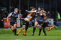 Dan Evans of Ospreys in action during the Guinness Pro 14 Round 7 match between Ospreys and Cheetahs at The Gnoll in Neath, Wales, UK. Saturday 30 November 2019