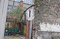 Unseen, disintegrating, bowed and priceless Rubble stone and brick building, tucked in at the back of No 6 Market Square, on a little lane that now looks like an entry <br /> Time there was Alternative Louth Heritage to counter the Corporate PC Heritage nobs