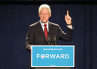 LAURA FONG | Former U.S. President Bill Clinton stumps for Barack Obama in Parma, Ohio, Thursday.  Clinton called attention to the Republican spin on the presidential campaign claiming Obama needs another four years to finish the job.