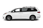 Car driver side profile view of a 2018 Toyota Sienna XLE 5 Door Mini Van