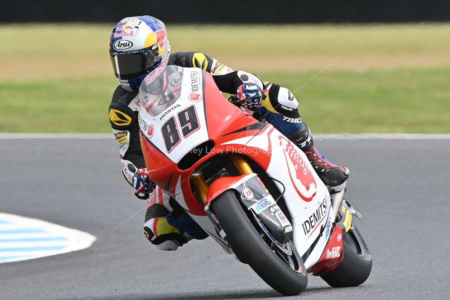 October 27, 2018:  during the Moto2 practice session three at the 2018 MotoGP of Australia at Phillip Island Grand Prix Circuit, Victoria, Australia. Photo Sydney Low