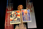 "Actress Brooke Smith of ""Grey's Anatomy"" at a rally for Ralph Nader and other third party candidates at the University of Denver the same week the Democratic National Convention is in Denver, Colorado on August 27, 2008.  Organizers estimated a crowd of 4,000."