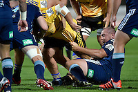 Tony Woodcock in action during the Super Rugby - Hurricanes v Blues at FMG Stadium, Palmerston North, New Zealand on Friday 13 March 2015. <br /> Photo by Masanori Udagawa. <br /> www.photowellington.photoshelter.com.