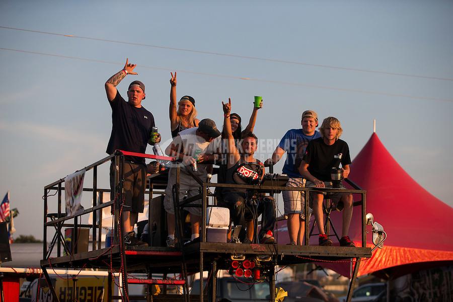 Aug. 17, 2013; Brainerd, MN, USA: View inside the Zoo at Brainerd International Raceway following NHRA qualifying for the Lucas Oil Nationals. Mandatory Credit: Mark J. Rebilas-