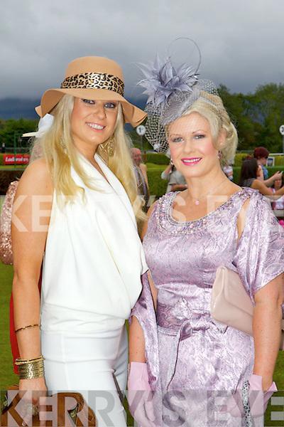 Kelly McDonnell, Killarney, Aileen Garvey, Muckross Road, at Killarney races ladies day on Thursday.