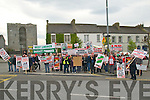 Pictured at the protest rally against government cuts in Listowel on Saturday