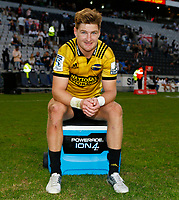 Jordie Barrett of the Hurricanes during the Super Rugby match between Cell C Sharks and Hurricanes at Jonsson Kings Park Stadium in Durban, South Africa on Saturday, 1 June 2019. Photo by Steve Haag / stevehaagsports.com
