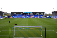 General View of Shrewsbury Town Greenhous Meadow stadium before the Sky Bet League 1 match between Shrewsbury Town and Fleetwood Town at Greenhous Meadow, Shrewsbury, England on 21 October 2017. Photo by Leila Coker / PRiME Media Images.