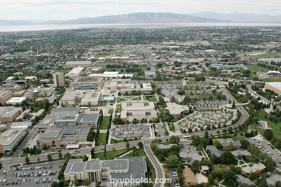 Campus Aerials<br /> Day at BYU<br /> September 22, 2004<br /> Photography by Mark A. Philbrick