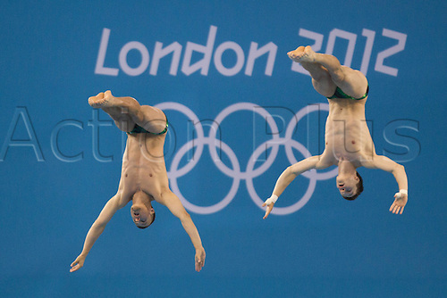 30.07.2012. London, England. Patrick House and Sascha Small Olympic Summer Games 2012 in London  10m Synchronized diving for men Final  in London Aquatics Centre  Summer Games London