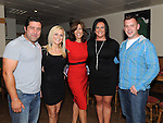 Seamus Sarsfield, Rosemary Watson, Alison Comyn, Jane Farrell and Emmet Grogan pictured at the launch of the Strictly Come Dancing DVD at the Rugby Club. Photo: Colin Bell/pressphotos.ie