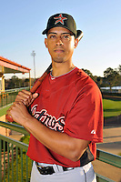 Feb 25, 2010; Kissimmee, FL, USA; The Houston Astros infielder Edwin Maysonet (18) during photoday at Osceola County Stadium. Mandatory Credit: Tomasso De Rosa / Four Seam Images