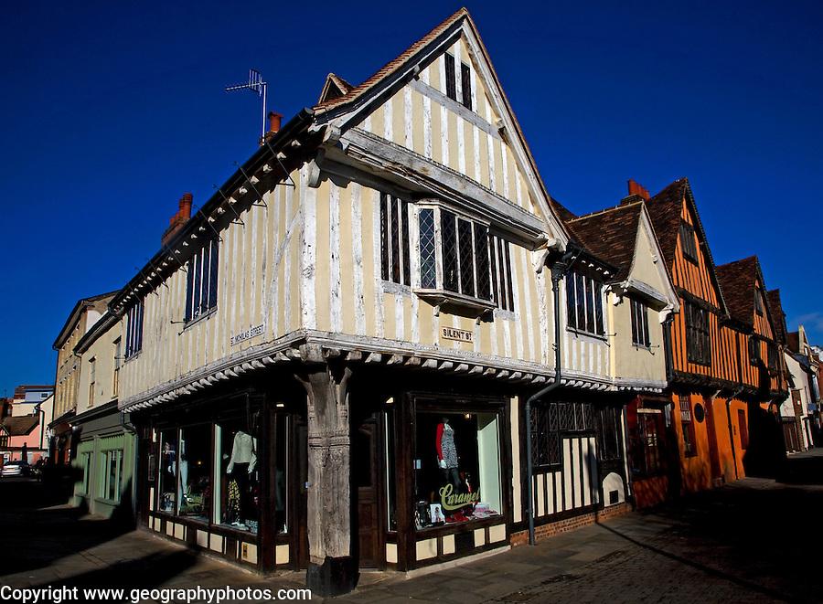 Curson Lodge, medieval inn, Tudor buildings, Silent Street, Ipswich, Suffolk, England