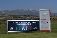 The 2nd tee during Round 3 of the Rocco Forte Sicilian Open 2018 on Saturday 12th May 2018.<br /> Picture:  Thos Caffrey / www.golffile.ie<br /> <br /> All photo usage must carry mandatory copyright credit (&copy; Golffile   Thos Caffrey)