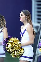 SEATTLE, WA - OCTOBER 28:  Washington cheerleader Payton Kalka entertained fans during the game against UCLA on October 28, 2017 at Husky Stadium in Seattle, WA. Washington won 44-23 over UCLA.