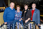 Danny and Mary McLaughlin with Frances and John Griffin from Lixnaw, at the Kingdom Greyhound Track on Friday night.