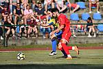 2018-06-27 / Voetbal / Seizoen 2018-2019 / KFC Brasschaat - R. Antwerp FC / Wim Parmentier met Ivo Rodrigues van Antwerp<br /> <br /> ,Foto: Mpics