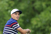 Rickie Fowler US Team on the 10th tee during Thursday's Practice Day of the 41st RyderCup held at Hazeltine National Golf Club, Chaska, Minnesota, USA. 29th September 2016.<br /> Picture: Eoin Clarke | Golffile<br /> <br /> <br /> All photos usage must carry mandatory copyright credit (&copy; Golffile | Eoin Clarke)