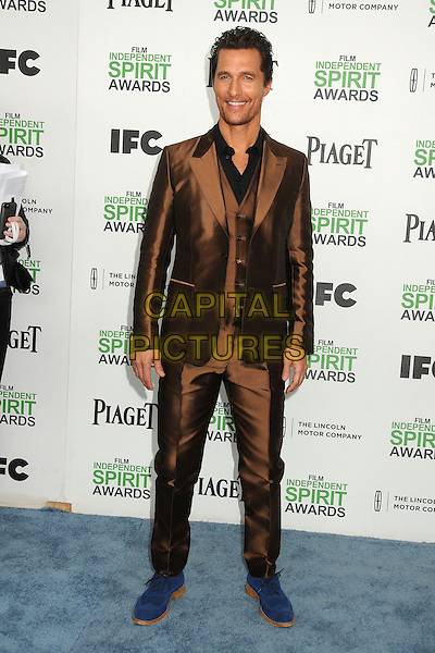 1 March 2014 - Santa Monica, California - Matthew McConaughey. 2014 Film Independent Spirit Awards - Arrivals held at Santa Monica Beach. <br /> CAP/ADM/BP<br /> &copy;Byron Purvis/AdMedia/Capital Pictures