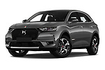 Stock pictures of low aggressive front three quarter view of 2019 Ds DS-7-Crossback Performance-Line 5 Door SUV Low Aggressive
