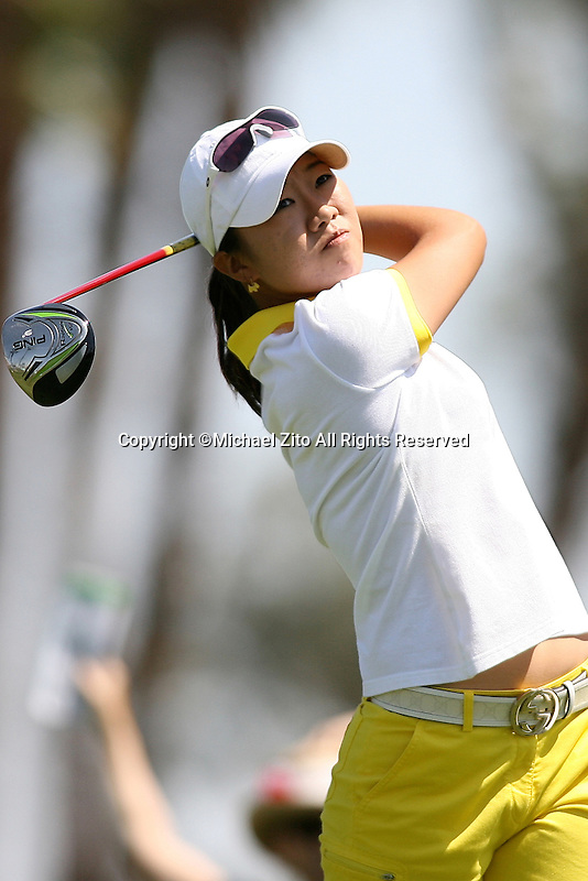 04/03/09 Rancho Mirage, CA: Ji Young Oh during the 2nd round of the Kraft Nabisco Championship held at Mission Hills Country Club.