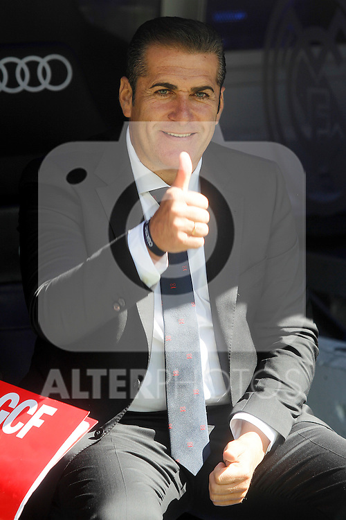 Granada's coach Jose Ramon Sandoval during La Liga match. September 19,2015. (ALTERPHOTOS/Acero)