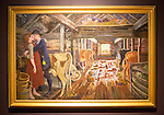 'Cowshed Courting' 1904 oil painting on canvas by Nikolai Astrup 1880-1928, Kode 4 art gallery Bergen, Norway