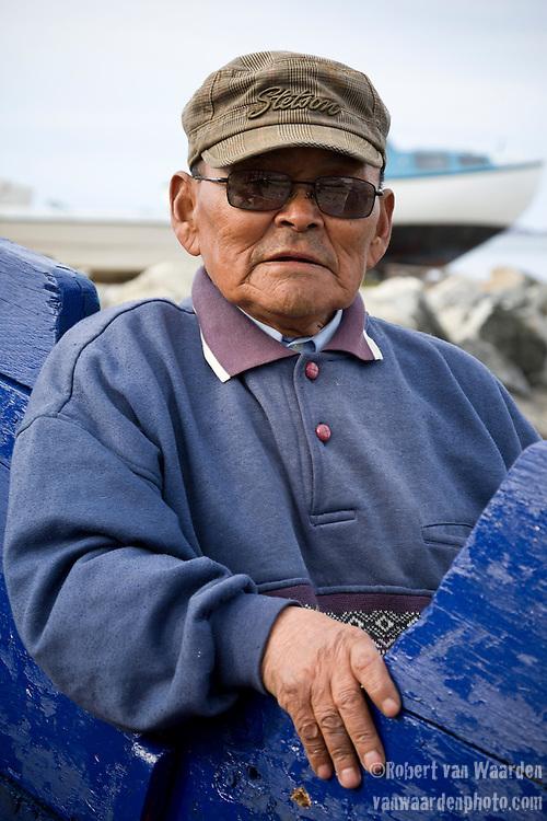 Portrait of a Greenlandic man in Nuuk, Greenland.