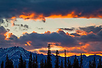 Majestic sunset over Alaska Range, Southcentral Alaska, Summer.